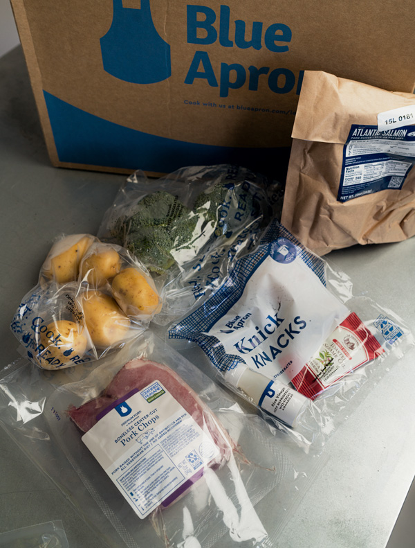 blue apron packaged ingredients