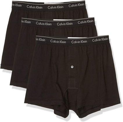 set of three black boxer underwear