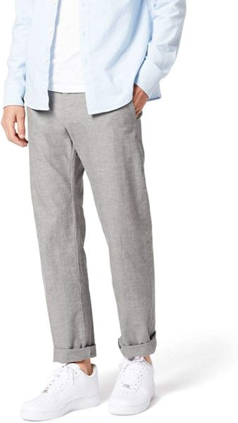 light grey regular fit chino pants