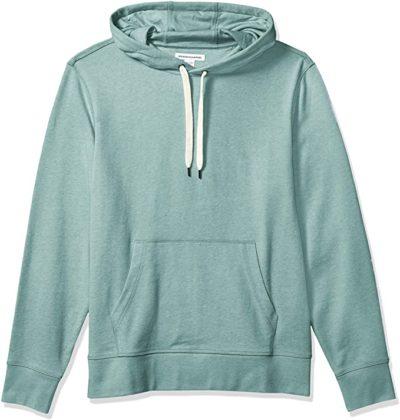 light green french terry hoodie sweatshirt
