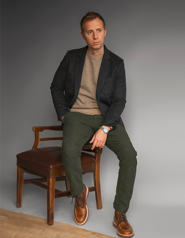 man wearing clothing from j.crew