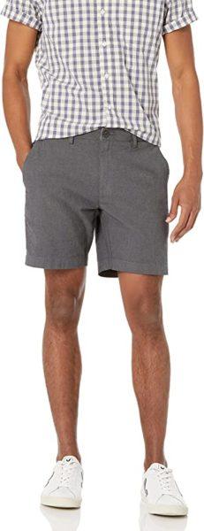 dark grey oxford shorts for men