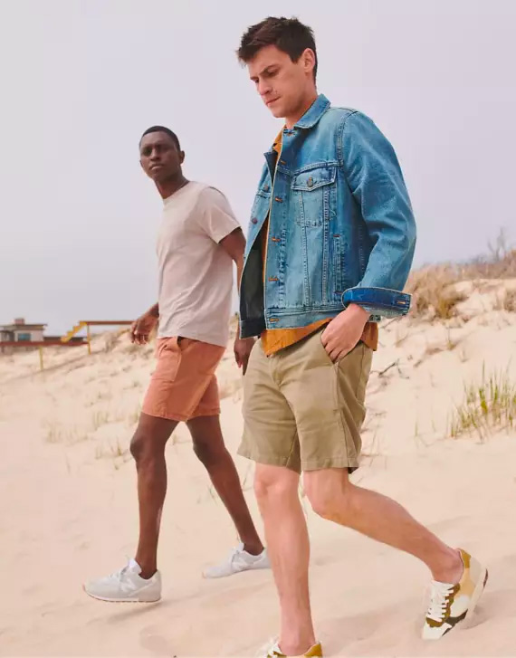 two men wearing clothing from Madewell