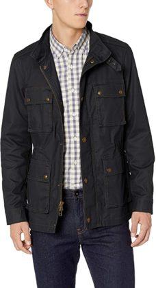 moto style jacket zip front