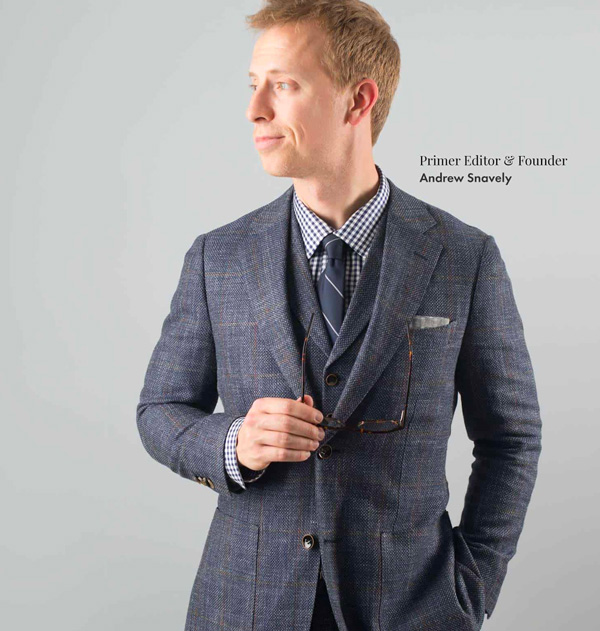 Andrew Snavely wearing SuitSupply suit
