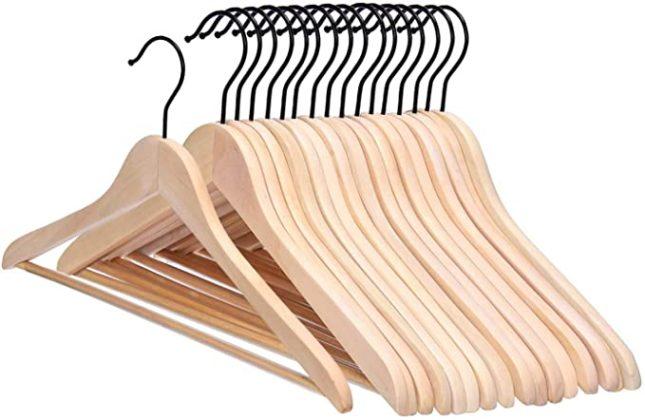 wood coat hangers