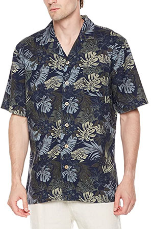 camp collar shirt in a floral pattern