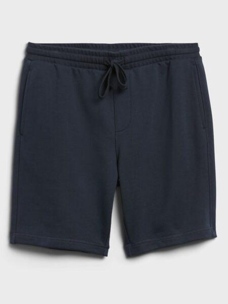 navy blue french terry drawstring shorts