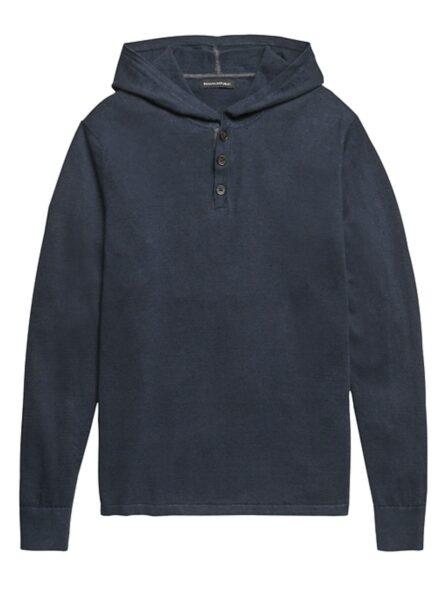navy blue linen cotton sweater