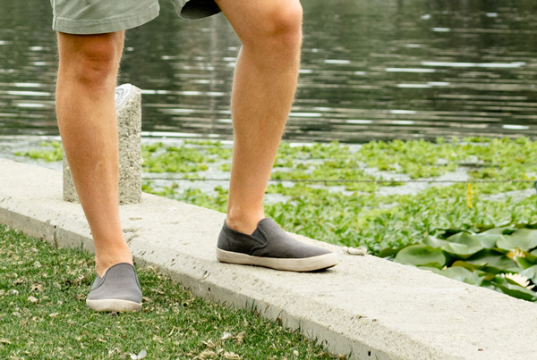 slip on canvas sneakers in summer