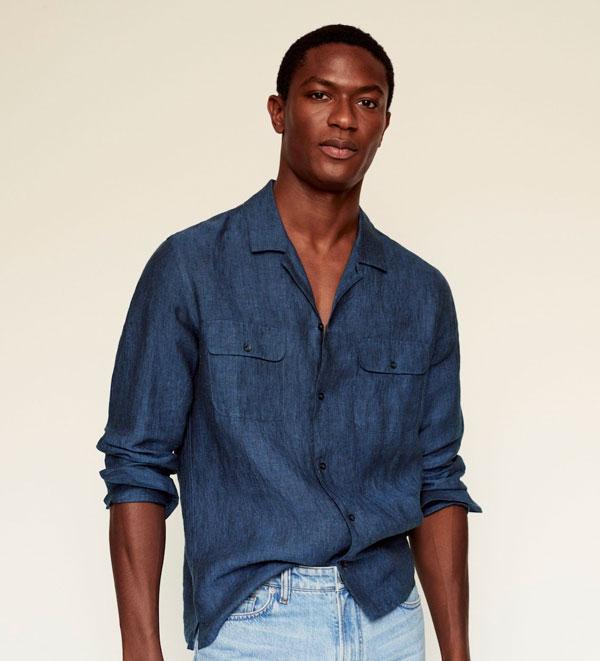linen summer shirt long sleeve
