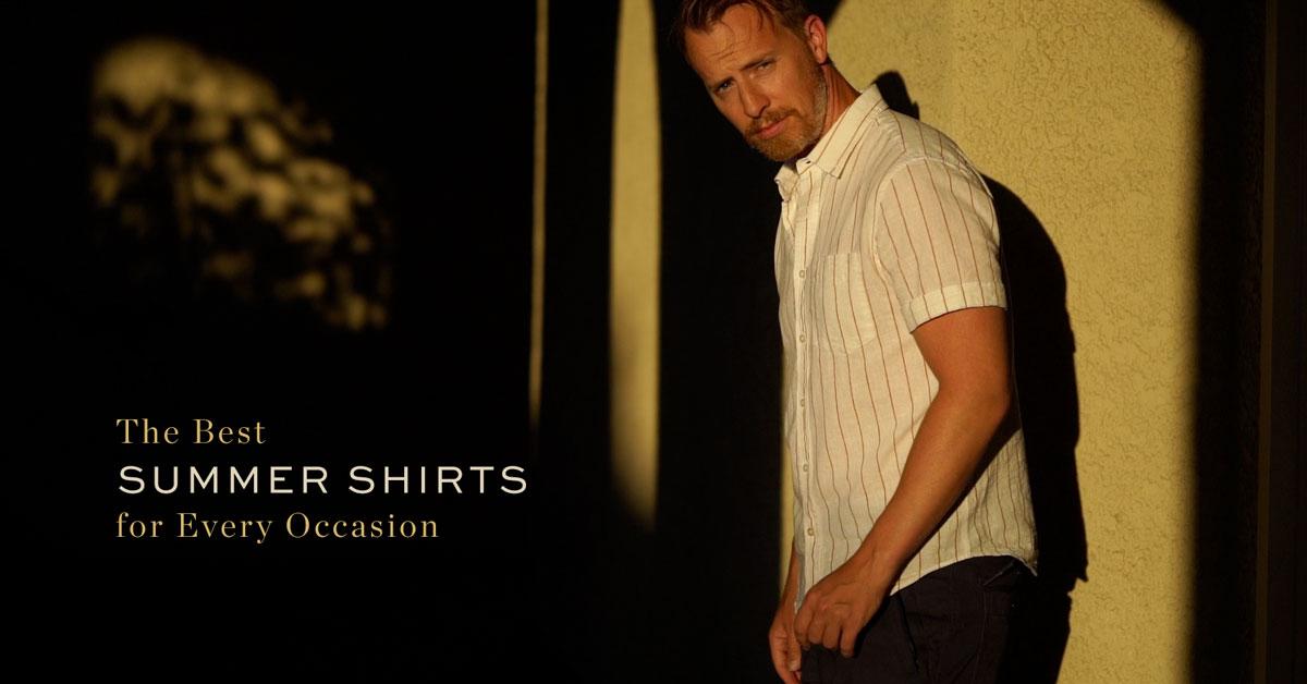 Summer Shirts - Man wearing short sleeve shirt