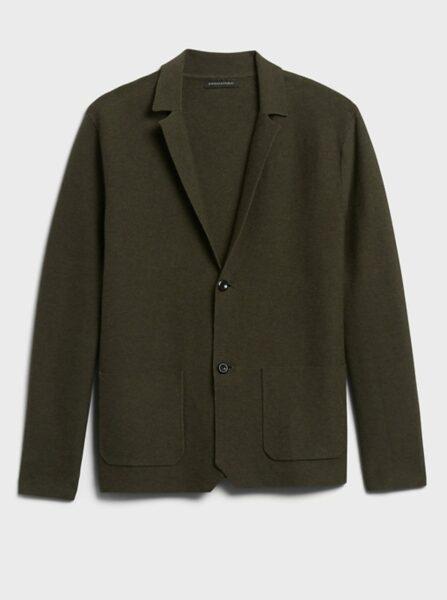 brown sweater blazer