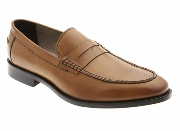 brown leather leather loafers