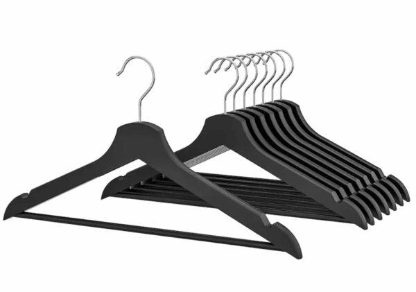 black wood hangers