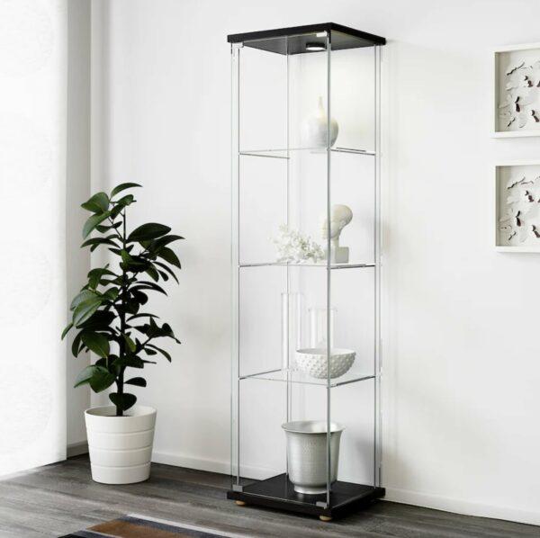 glass door cabinet shelves