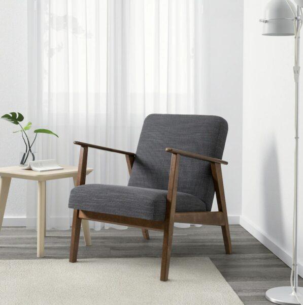 wood frame armchair