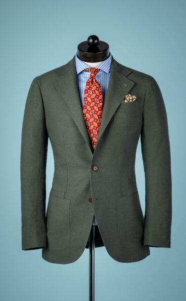 green linen sport coat