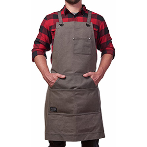 hudson waxed canvas work apron