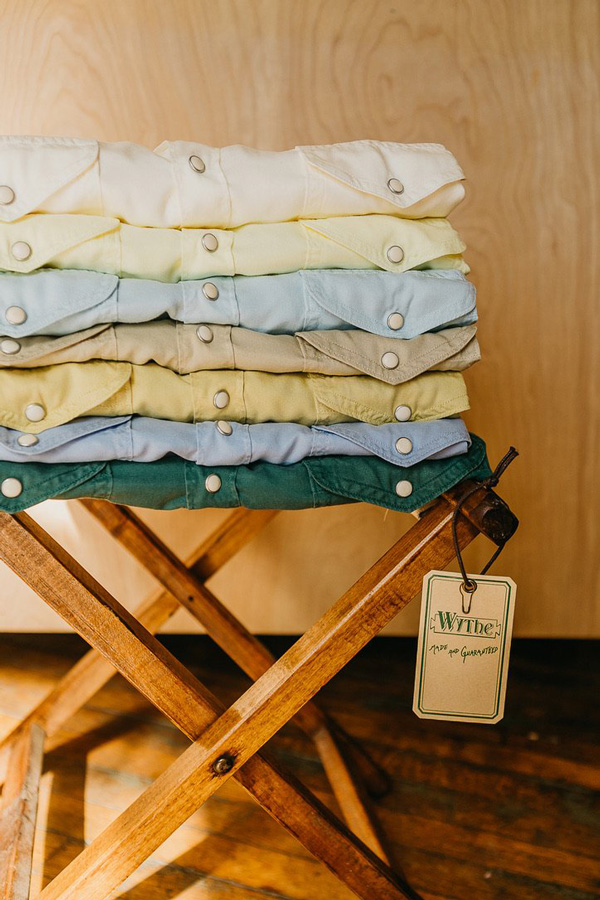 wythe shirts stacked