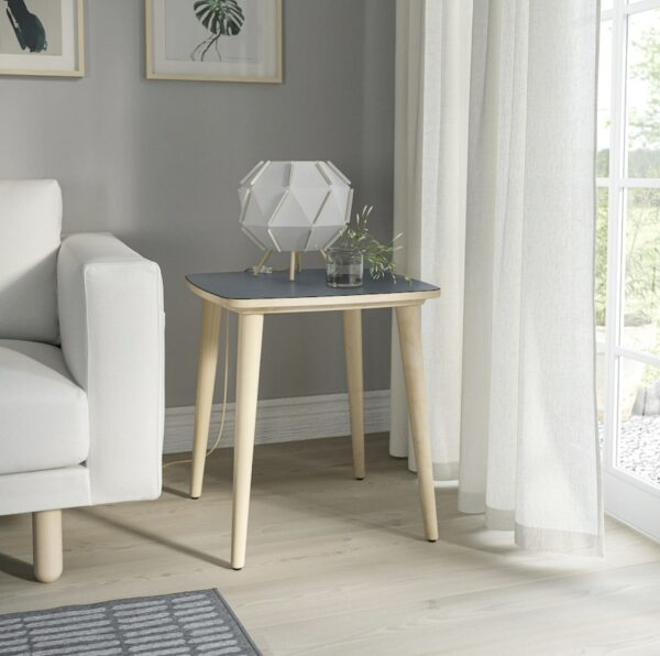 anthracite and birch side table