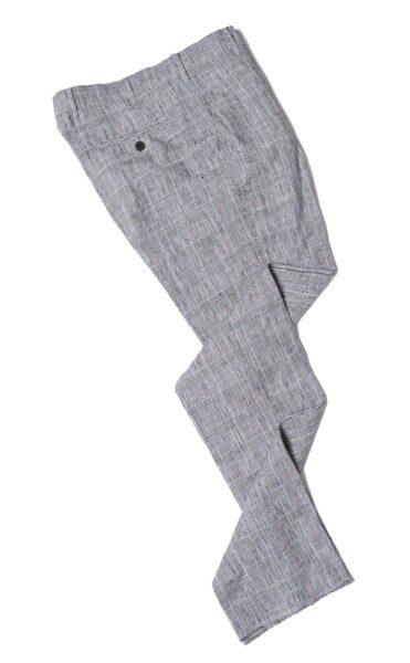 grey linen suit pants