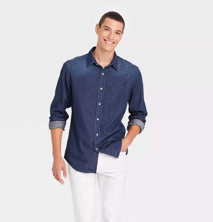 target denim shirt
