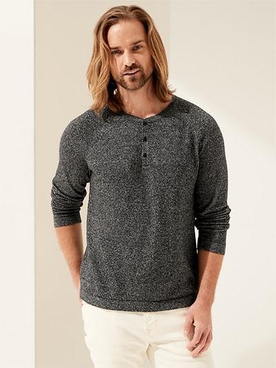 dark grey cashmere sweater