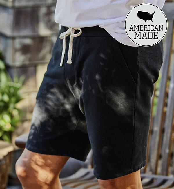 black terry sweat shorts