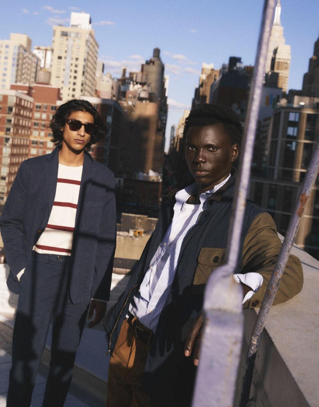 Men wearing J.Crew in their Fall Lookbook