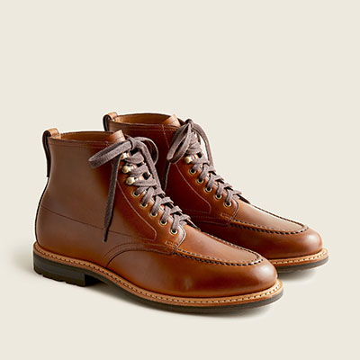 brown chromexcel leather boots
