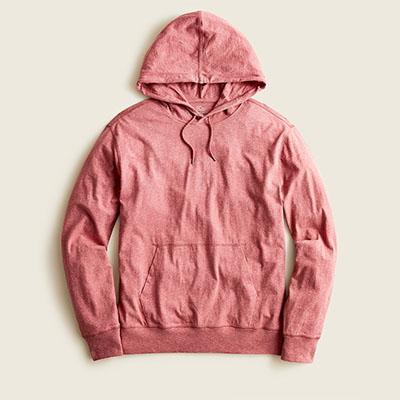 red cotton hoodie sweatshirt