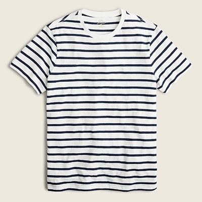 slub jersey striped shirt