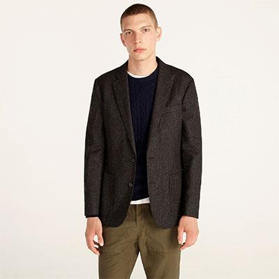 slim fit English wool blazer