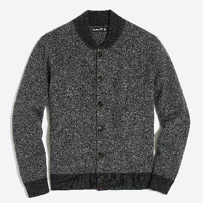 grey bomber style jacket