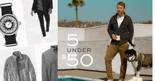 5 Under $50: October 5