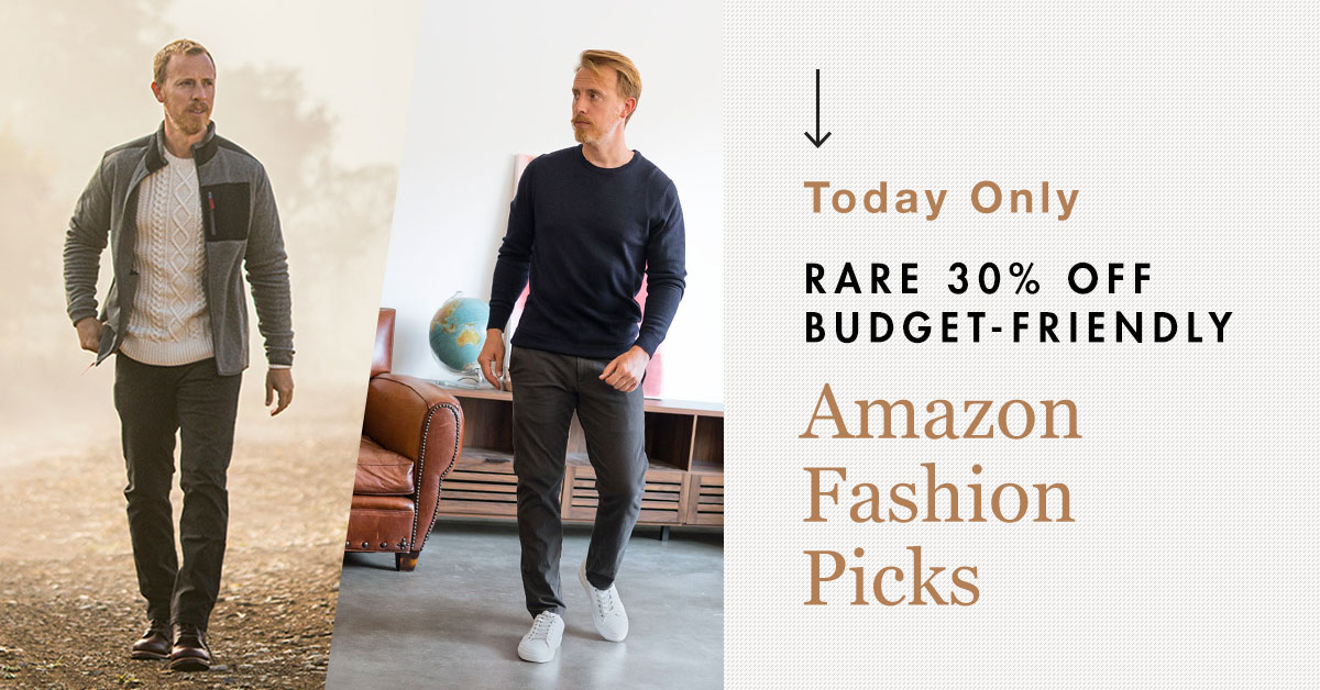Today Only: Rare 30% Off Budget-Friendly Amazon Fashion Picks