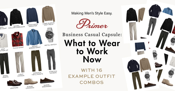 What to Wear to Work Now: A Modern Business Casual Capsule Wardrobe with 16 Example Outfit Combos