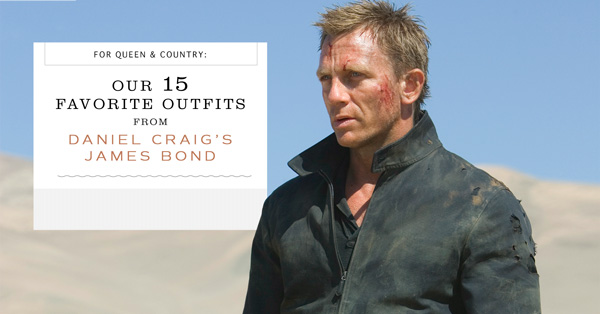 Our 15 Favorite Outfits from Daniel Craig's James Bond